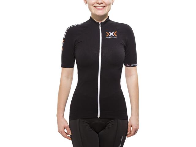 X-Bionic The Trick Biking Shirt SS Full-Zip Damen black/white